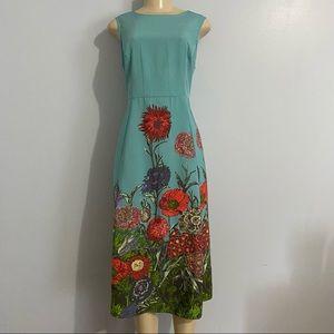 ASOS Maternity Blue Sleeveless MIDI Floral Dress 8